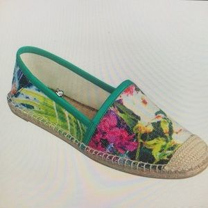 Nine West Maxy Sequin Floral Espadrillle EUC 7.5